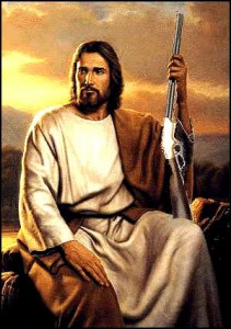 jesus with gun