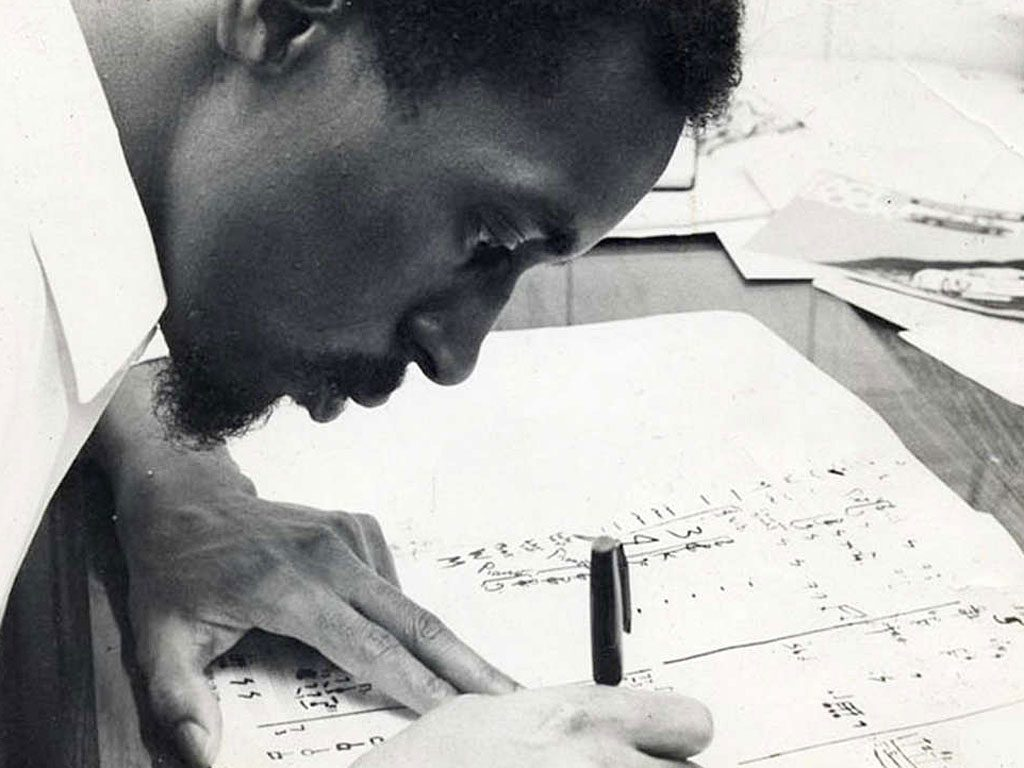 Composer Julius Eastman at work. Donald Burkhart Bowerbird